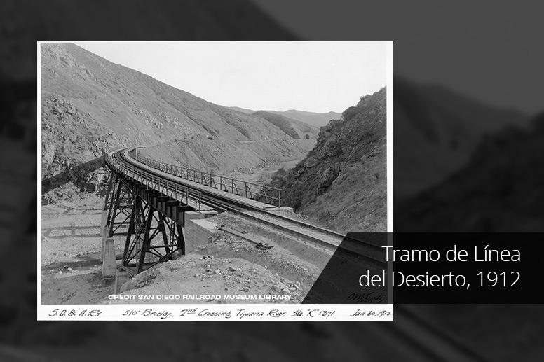 Tramo de Línea del Desierto, 1912