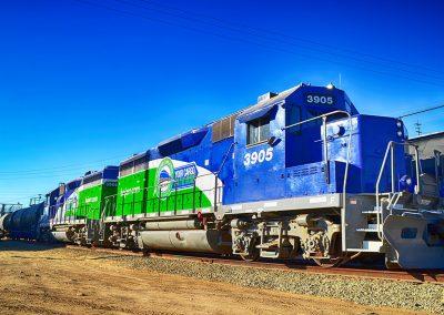 Locomotora renovada en Estación Tijuana