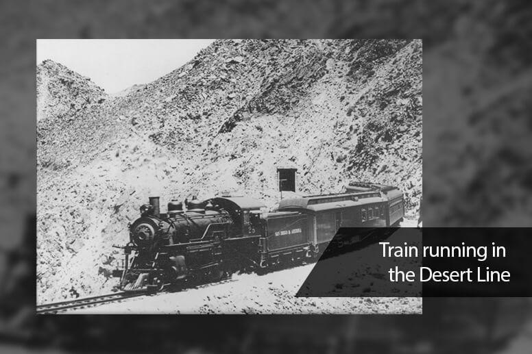 Train running in the Desert Line