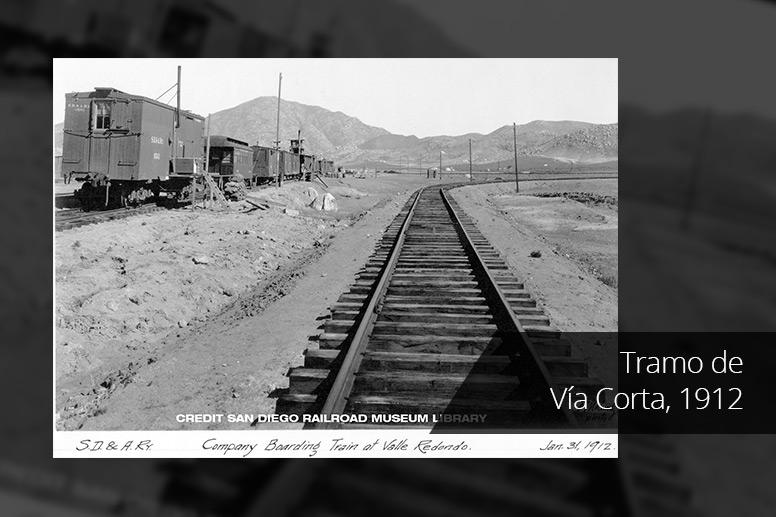 Tramo de Vía Corta, 1912