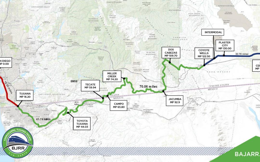 Generará alianza binacional de transporte de carga por tren nuevas oportunidades de inversión a Baja California