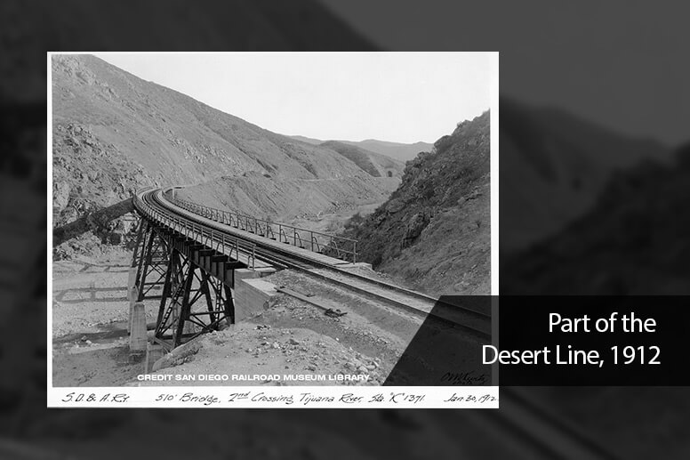 Part of the Desert Line, 1912