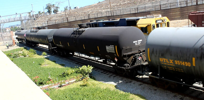 For the first time in 100 years BJRR transports diesel fuel into Mexico